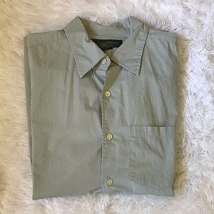 Banana Republic Green Button Down Sz L
